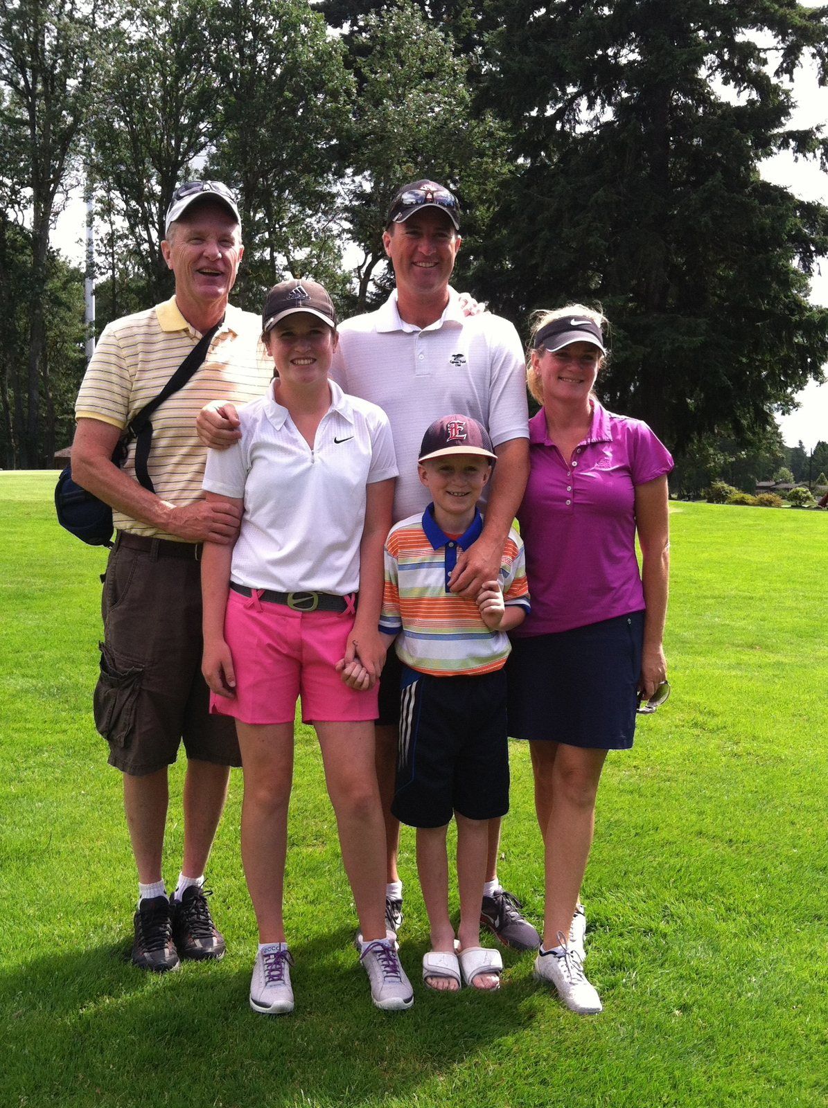 Ashley Fitzgibbons and family winning AJGA