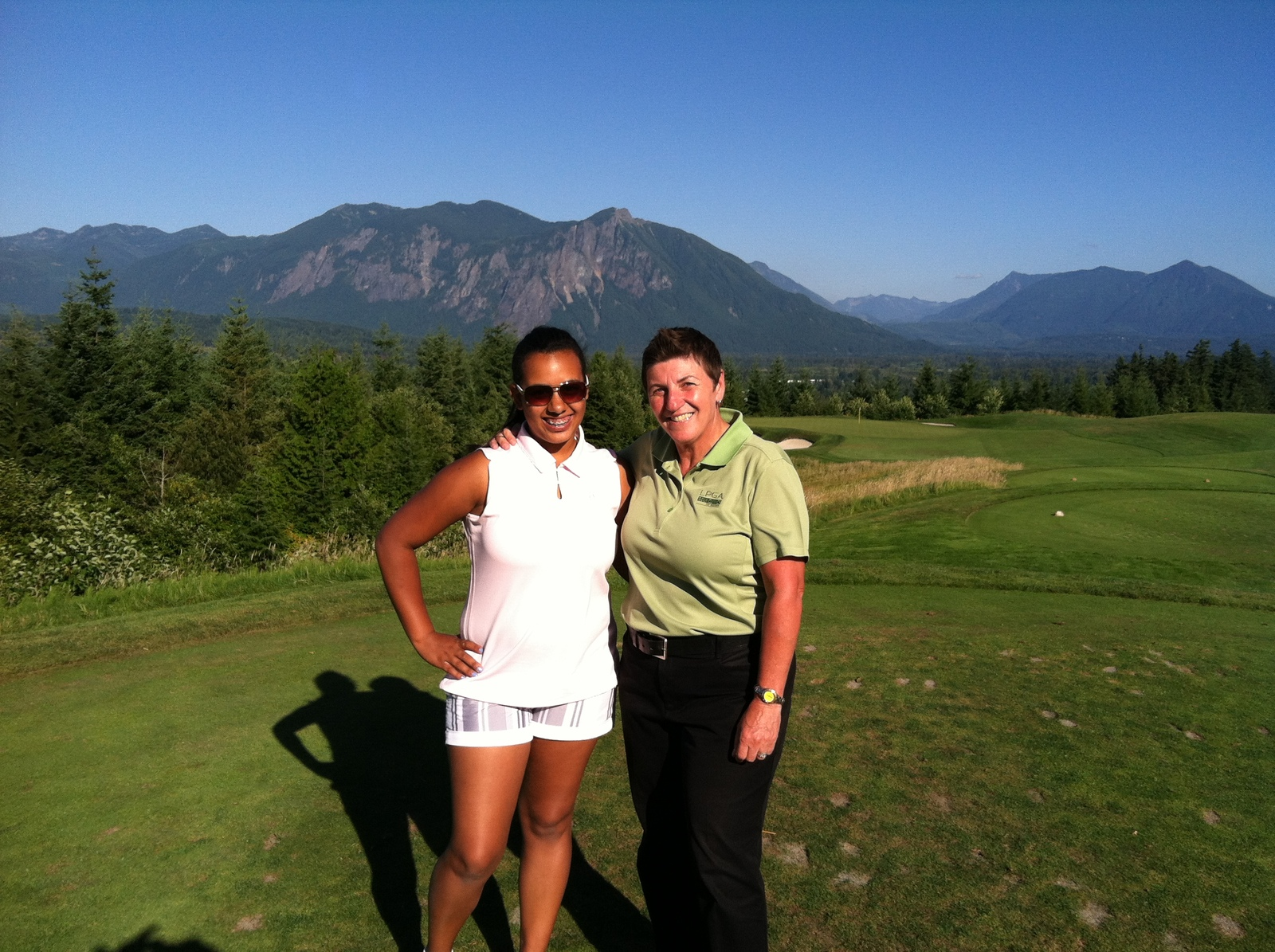 Caitlin Maralack and me at TPC Snoqualmie